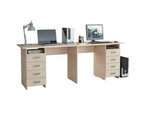 Стол письменный Тандем-3, цвет - дуб молочный, стиль - современный