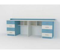 Стол для двоих детей Город 28, цвет - мармара голубая, стиль - современный