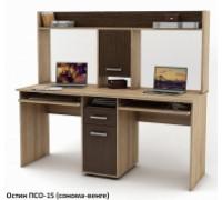 Письменный стол Остин-15 для двоих, цвет - сонома/венге, стиль - современный