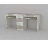 Школьный стол для двоих детей, цвет - белый, стиль - современный