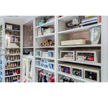 Функциональная гардеробная система, цвет -белый , стиль - современный
