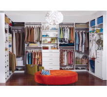 Модульная гардеробная система, цвет - белый, стиль - современный