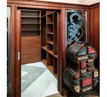 Встраиваемая гардеробная система , цвет - ореховый, стиль - современный