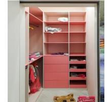 Детская гардеробная система для девочек , цвет - розовый, стиль - современный