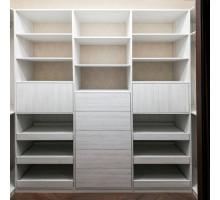 Классическая гардеробная система , цвет - белый, стиль - современный