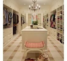 Многофункциональная гардеробная система для девушек , цвет - молочный, стиль - современный
