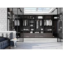 Большая гардеробная система , цвет - Давос Трюфель, стиль - современный