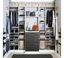 Многофункциональная гардеробная система , цвет - светло-серый, стиль - современный