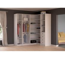 Модульная гардеробная система, цвет - белый , стиль - современный
