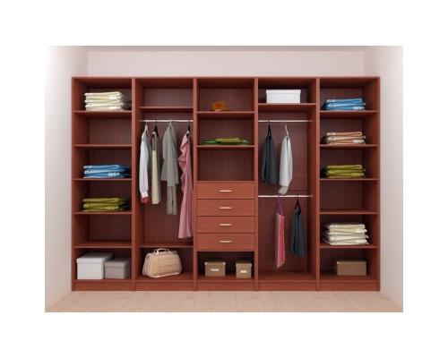 Модульная гардеробная система, цвет -  коричневый, стиль - современный