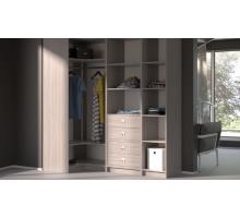 Модульная гардеробная система Дели-7, цвет - Ясень Шимо, стиль -современный