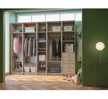 Модульная гардеробная система, цвет - светло-бежевый, стиль - современный