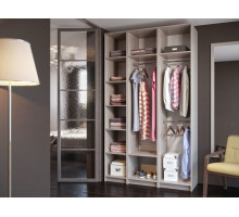 Модульная гардеробная система Дели-3, цвет - Ясень Шимо, стиль - современный
