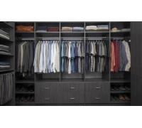 Мужская гардеробная система, цвет - черный, стиль - современный