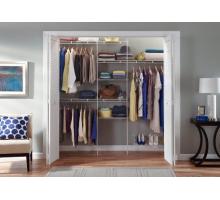 Стильная гардеробная система, цвет - белый, стиль - современный