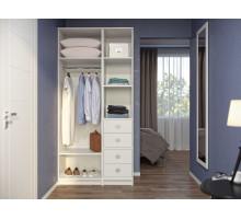 Модульная гардеробная система Дели-4, цвет - белый, стиль - современный