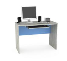 Детский письменный стол Тетрис 1344 , цвет - дуб белый craft / капри синий, стиль - современный