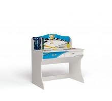 Письменный стол King La-Man, цвет - белый/голубой, стиль - современный