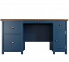 Письменный стол Jules Verne 1, цвет - синий/орех, стиль - классика