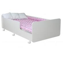 Детская кровать для девочки, цвет -светло-розовый, стиль- современный