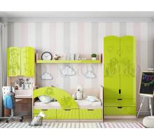Детская комната для девочки, цвет- лайм, стиль- современный