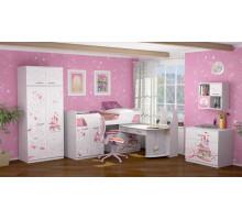 Детский комплекс для девочки, цвет- лиственница Сибиу, стиль- Сказочный