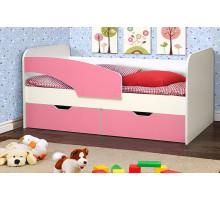 Детская кровать для девочки, цвет- светло-розовый, стиль- классический