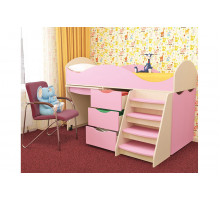 Детская кровать для девочки, цвет- пинк, стиль- современный