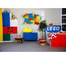 Детский комплекс, цвет- белый,красный,синий, стиль- современный