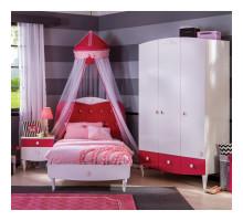 Детская комната для девочки, цвет- белый, стиль- современный