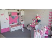 Детская комната для девочки, цвет- розовый, стиль- Зефир
