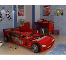Детская комната для мальчика, цвет- красный, стиль- сказочный