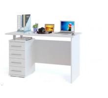 Белый письменный стол с ящиками