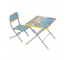 Комплект детской мебели Фея Досуг № 101 Алфавит и цифры, цвет: серый/голубой, стиль - современный