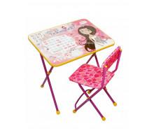 Набор мебели Ника Познайка Принцесса, цвет - розовый, стиль - современный