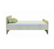 Детская одноместная кровать для детского сада BMS, цвет - белый, стиль - современный