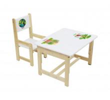 Столик и стульчик Полини Эко, цвет - дино 2, стиль - современный
