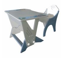 Набор мебели Интехпроект стол+стул Техно регулируемый. цвет - голубой, стиль - современный