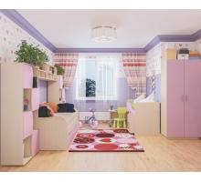 Набор мебели для детской ЛИЛИЯ, цвет - сиреневый, стиль - современный