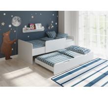 Детская двухъярусная кровать Легенда 14.2, цвет - белый, стиль - модерн