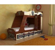 """Детская кровать """"Паровозик"""", цвет - ассорти, стиль - классика"""