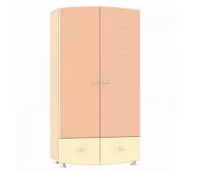 ДК-1К Шкаф для одежды Капитошка, цвет - береза снежная\абрикос-ваниль, стиль - современный
