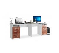 Письменный стол МФ Мастер Тандем-3, цвет - белый, стиль - современный