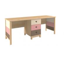 Письменный стол 38 попугаев Робин Вуд на два рабочих места, цвет - светлый дуб, стиль - современный