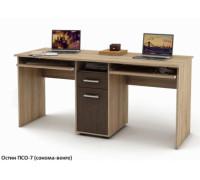 Письменный стол Остин-7 для двоих, цвет - сонома/венге, стиль - современный