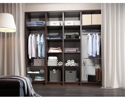 Модульная гардеробная система Дели-5, цвет - коричневый, стиль - современный