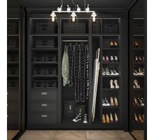 Гардеробная Бергамо, цвет - венге черный, стиль - современный
