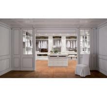 Белая гардеробная Шампиньи, цвет - белый, стиль - современный