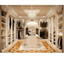 Гардеробная комната на заказ Гавр, цвет - ясень патина, стиль - современный