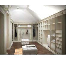 Гардеробная на заказ Клермон-Ферран, цвет - белый, стиль - современный